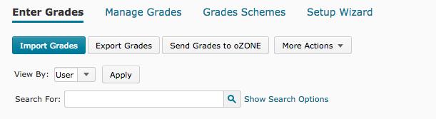 Send grades to oZONE